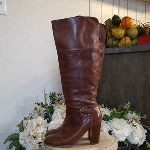 """Audrey Brooks """"Abhigrade"""" tall leather boots 7.5"""